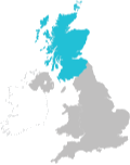 icon - a map of the UK and Northern Ireland, with Scotland highlighted